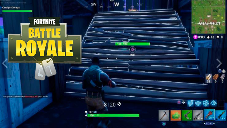 construir estructuras fortnite