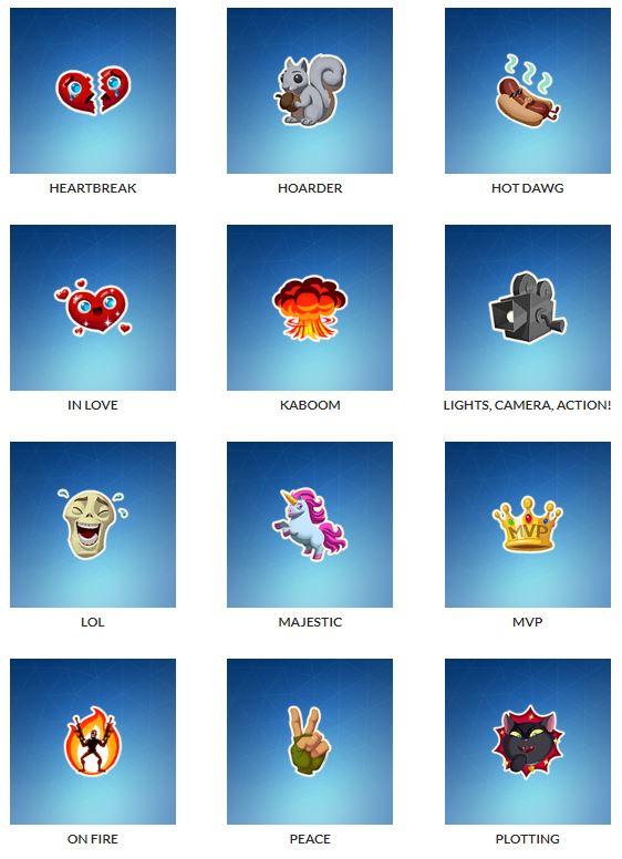 fortnite nuevos emojis